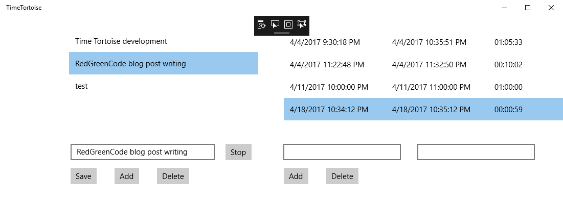 Time Segment Timers