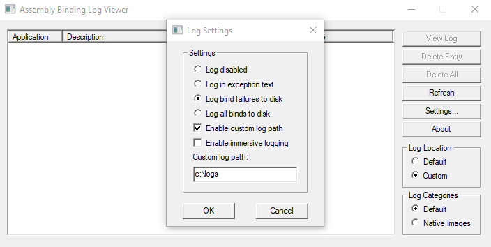 Assembly Binding Log Viewer