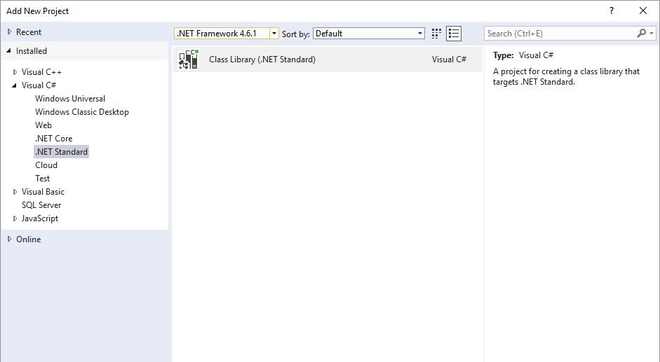 .NET Standard Class Library