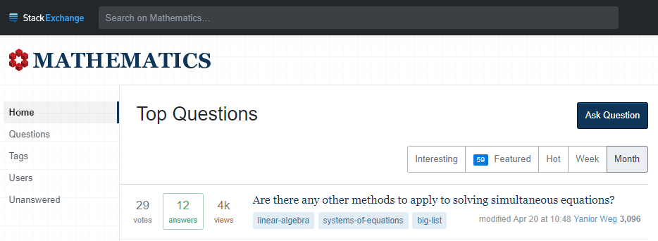 Math Stack Exchange