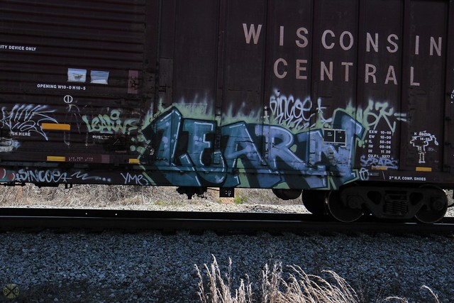 Learn graffiti on a train