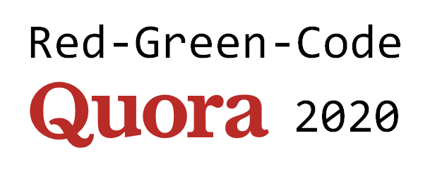 Red-Green-Code Quora 2020